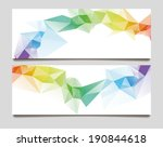 abstract set wave triangle... | Shutterstock .eps vector #190844618