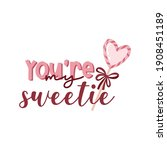 valentine's day card with...   Shutterstock .eps vector #1908451189