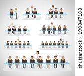 business peoples   isolated on... | Shutterstock .eps vector #190847108