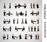 business peoples   isolated on... | Shutterstock .eps vector #190847804