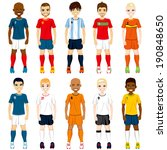 collection set of soccer...   Shutterstock .eps vector #190848650