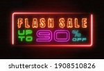 flashing sale up to percent off ... | Shutterstock . vector #1908510826