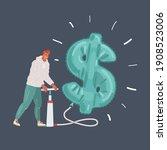 vector cartoon illustration of... | Shutterstock .eps vector #1908523006