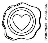 wax seal line. a beautiful...   Shutterstock .eps vector #1908560239