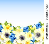 abstract flower background with ... | Shutterstock .eps vector #190858730