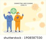 medical staff to prevent covid...   Shutterstock .eps vector #1908587530