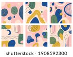 six abstract patterns with hand ...   Shutterstock .eps vector #1908592300