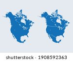 vector map of the north america | Shutterstock .eps vector #1908592363