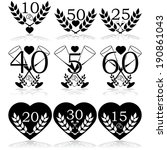 icon set showing different... | Shutterstock . vector #190861043
