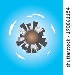 skyscrapers surrounding planet...   Shutterstock .eps vector #190861154