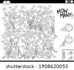 black and white illustration of ... | Shutterstock .eps vector #1908620053