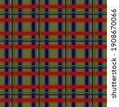 Set Blue Red Green Scottish...