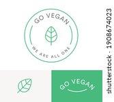 vegan logo go vegan animal... | Shutterstock .eps vector #1908674023
