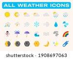 weather conditions vector... | Shutterstock .eps vector #1908697063