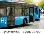 A hydrogen fuel cell buses...