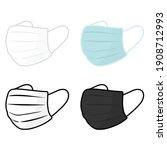 mask face medical equipment...   Shutterstock .eps vector #1908712993