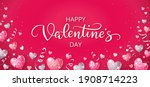 happy valentine's day banner.... | Shutterstock .eps vector #1908714223