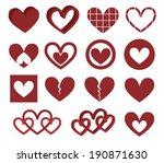 hearts.  illustration | Shutterstock . vector #190871630