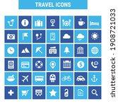 big tourism icon set  trendy... | Shutterstock .eps vector #1908721033
