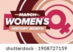 women's history month.... | Shutterstock .eps vector #1908727159