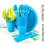 Bright Plastic Tableware...