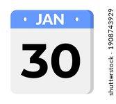 30 january calendar icon vector ...   Shutterstock .eps vector #1908743929