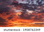 Dramatic Sunset Sky Colorful...