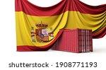 Spain Flag Draped Over A...