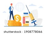 vaccination price  pharmacy... | Shutterstock .eps vector #1908778066