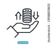 finance management linear icons.... | Shutterstock .eps vector #1908803803