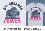graphic t shirt design  dreamer ... | Shutterstock .eps vector #1908818623