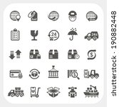 logistic and shipping icons set | Shutterstock .eps vector #190882448