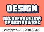 3d bold typography design.... | Shutterstock .eps vector #1908836320