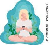 Girl Sitting In A Lotus...