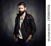 portrait of handsome man with... | Shutterstock . vector #190884506