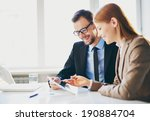 image of two young business... | Shutterstock . vector #190884704