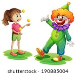 Illustration Of A Clown And A...