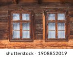 Two Wooden Windows From An Old...