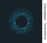 halftone circle dots vector...   Shutterstock .eps vector #1908852823