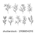 continuous line drawing set of... | Shutterstock .eps vector #1908854293