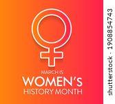 women's history month is an... | Shutterstock .eps vector #1908854743