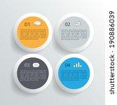 modern business circle style...   Shutterstock .eps vector #190886039