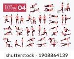women workout set. women doing... | Shutterstock .eps vector #1908864139