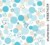 boys blue dotted seamless... | Shutterstock .eps vector #1908874159