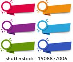 labels set isolated white... | Shutterstock .eps vector #1908877006