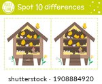 easter find differences game... | Shutterstock .eps vector #1908884920