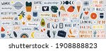 set of stickers on different... | Shutterstock .eps vector #1908888823