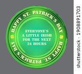 green coin with golden four... | Shutterstock .eps vector #1908891703