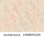 vector surreal face background  ... | Shutterstock .eps vector #1908893230