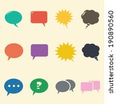 speech bubble icons  mono... | Shutterstock .eps vector #190890560